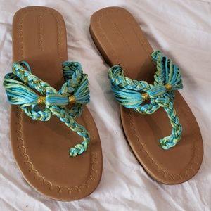 NEW size 9 braided flip flop